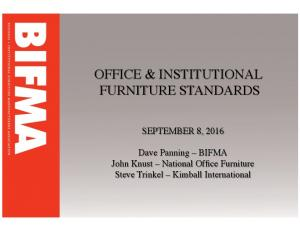 OFFICE & INSTITUTIONAL FURNITURE STANDARDS