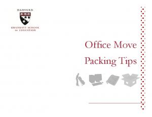 Office Move Packing Tips