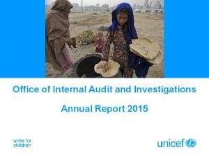 Office of Internal Audit and Investigations. Annual Report 2015