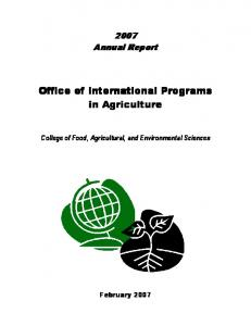 Office of International Programs in Agriculture