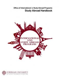 Office of International & Study Abroad Programs Study Abroad Handbook