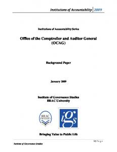 Office of the Comptroller and Auditor General (OCAG)