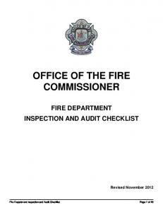 OFFICE OF THE FIRE COMMISSIONER