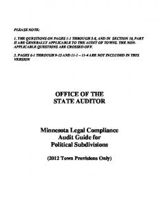 OFFICE OF THE STATE AUDITOR