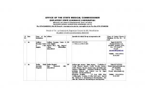 OFFICE OF THE STATE MEDICAL COMMISSIONER EMPLOYEES STATE INSURANCE CORPORATION