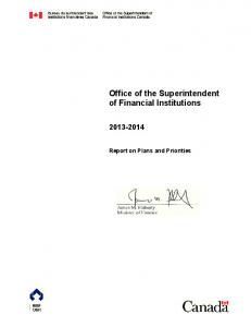Office of the Superintendent of Financial Institutions