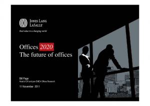 Offices 2020 The future of offices