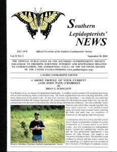 Official Newsletter of the Southern Lepidopterists' Society