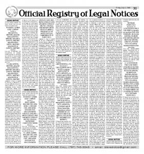 Official Registry of Legal Notices