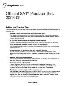 Official SAT Practice Test