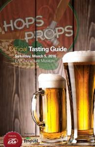 Official Tasting Guide