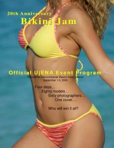 Official UjENA Event Program Presidente Intercontinental Resort Cabo, Mexico September 1-5, 2005