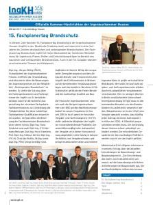 Offizielle Kammer-Nachrichten der Ingenieurkammer Hessen