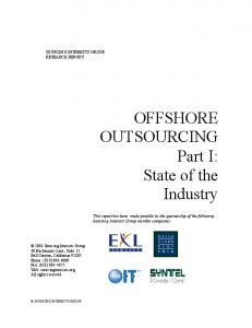 OFFSHORE OUTSOURCING Part I: State of the Industry