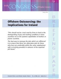 Offshore Outsourcing: the Implications for Ireland
