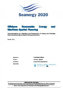 Offshore Renewable Energy and Maritime Spatial Planning