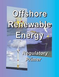 Offshore Renewable Energy Regulatory Primer