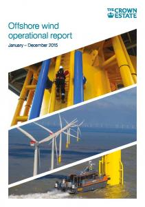 Offshore wind operational report. January December 2015