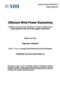 Offshore Wind Power Economics