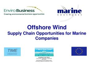 Offshore Wind Supply Chain Opportunities for Marine Companies