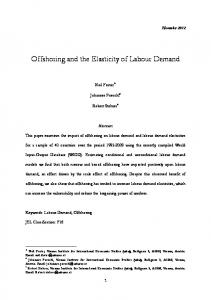 Offshoring and the Elasticity of Labour Demand