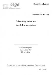 Offshoring, tasks, and the skill-wage pattern
