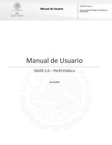 Oficialía Mayor. Manual de Usuario. Dirección General de Tecnologías de la Información y Comunicaciones. Manual de Usuario. SIGER 2