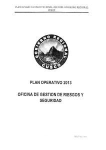 OFICINA DE GESTION DE RIESGOS Y SEGURIDAD