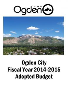 Ogden City Fiscal Year Adopted Budget