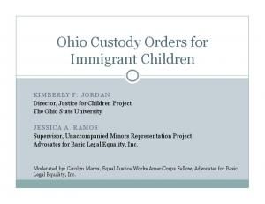 Ohio Custody Orders for Immigrant Children