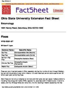 Ohio State University Extension Fact Sheet