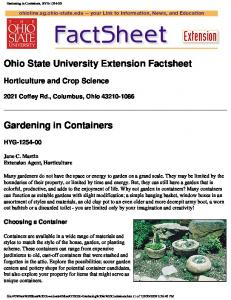Ohio State University Extension Factsheet