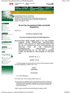 Oil and Gas Occupational Safety and Health