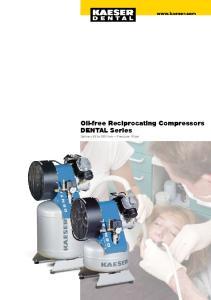 Oil-free Reciprocating Compressors DENTAL Series