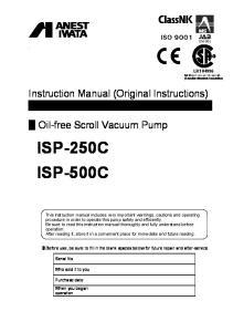 Oil-free Scroll Vacuum Pump