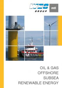 OIL & GAS OFFSHORE SUBSEA RENEWABLE ENERGY