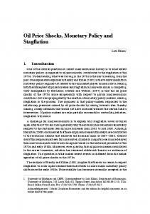 Oil Price Shocks, Monetary Policy and Stagflation