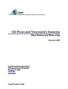 Oil Prices and Venezuela s Economy