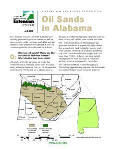 Oil Sands in Alabama