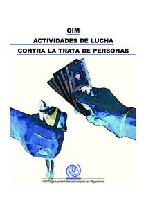OIM ACTIVIDADES DE LUCHA CONTRA LA TRATA DE PERSONAS