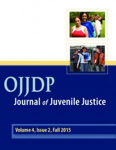 OJJDP Journal of Juvenile Justice