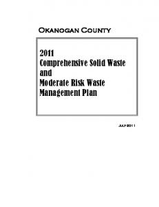 Okanogan County Comprehensive Solid Waste and Moderate Risk Waste Management Plan