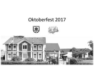 Oktoberfest Freitag, 29. September & Samstag, 30. September 2017