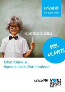 OKUL KILAVUZU W RLD. Okul Kılavuzu #çocuklarokullarıelealıyor. CHILDREN'S 20 November