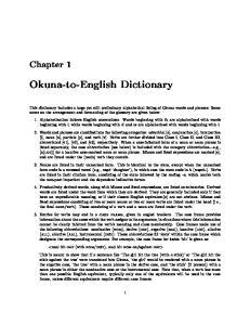 Okuna-to-English Dictionary