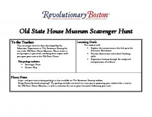 Old State House Museum Scavenger Hunt