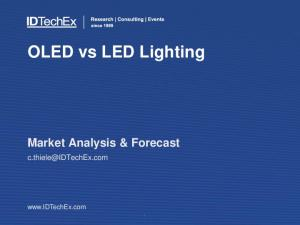 OLED vs LED Lighting. Market Analysis & Forecast.  Copyright 2012 IDTechEx
