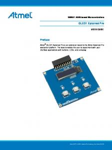 OLED1 Xplained Pro. Preface. SMART ARM-based Microcontrollers USER GUIDE