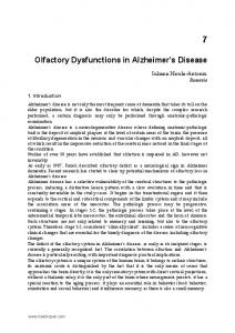 Olfactory Dysfunctions in Alzheimer s Disease