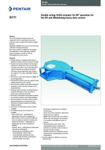 OLGA Double Acting Hydraulic Actuator